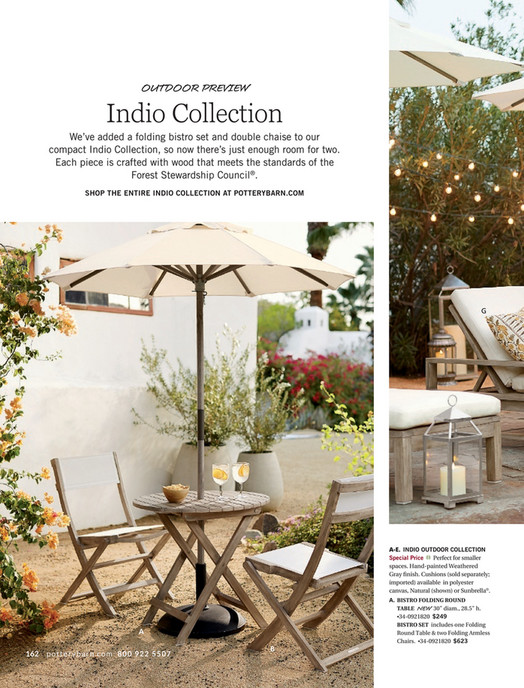 OUTDOOR PREVIEW Indio Collection Weu0027ve Added A Folding Bistro Set And  Double Chaise To ...