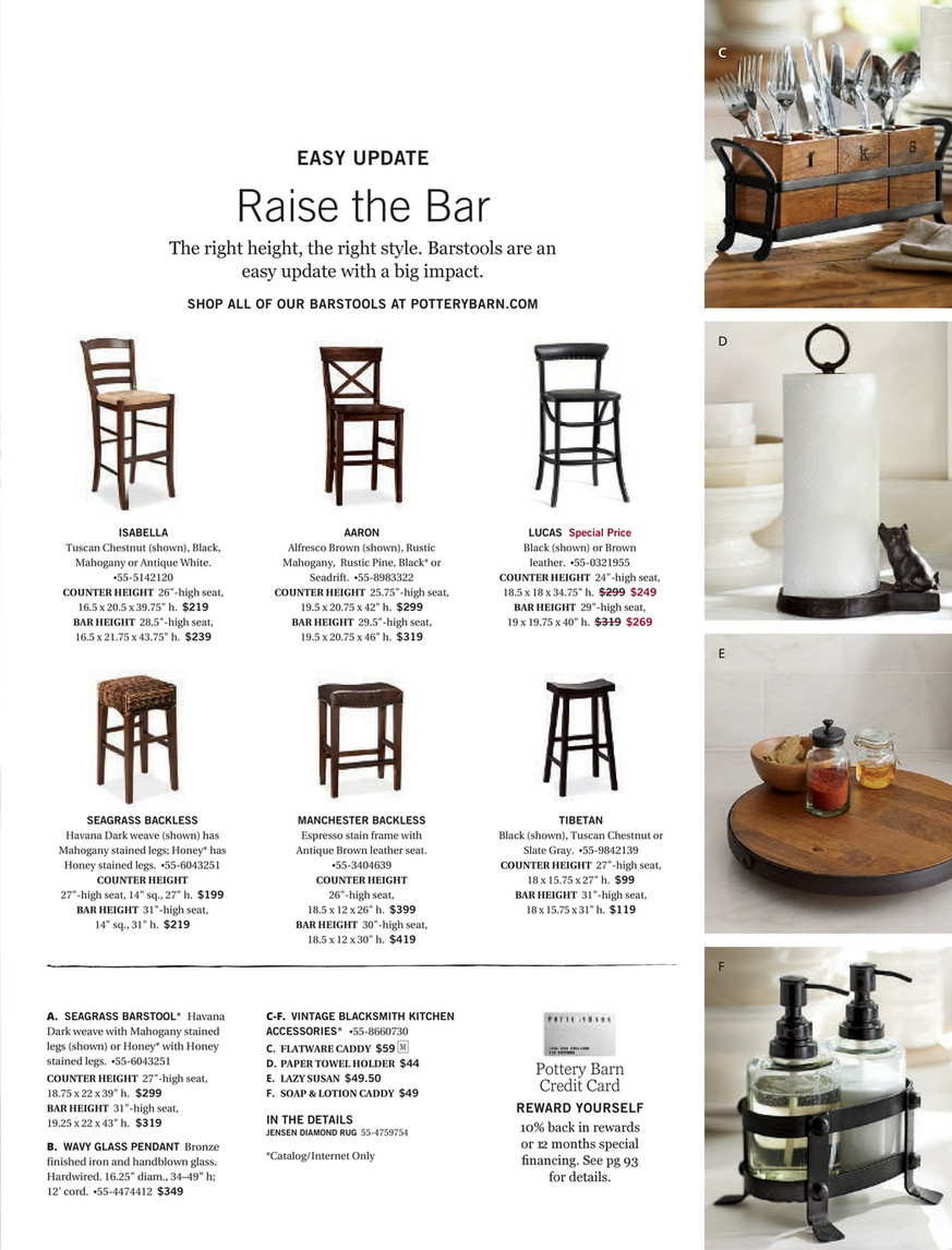 Bar Stools And High Table, Pottery Barn Summer 2017 D1 Seagrass Bar Stool Counter Height Honey