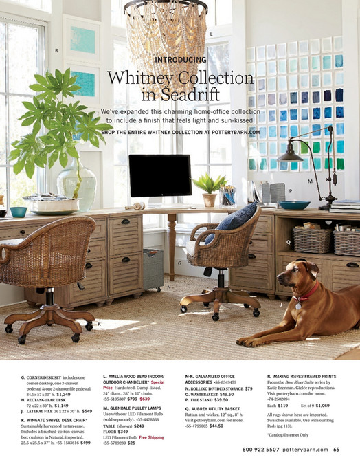 L R INTRODUCING Whitney Collection In Seadrift Weve Expanded This Charming Home Office