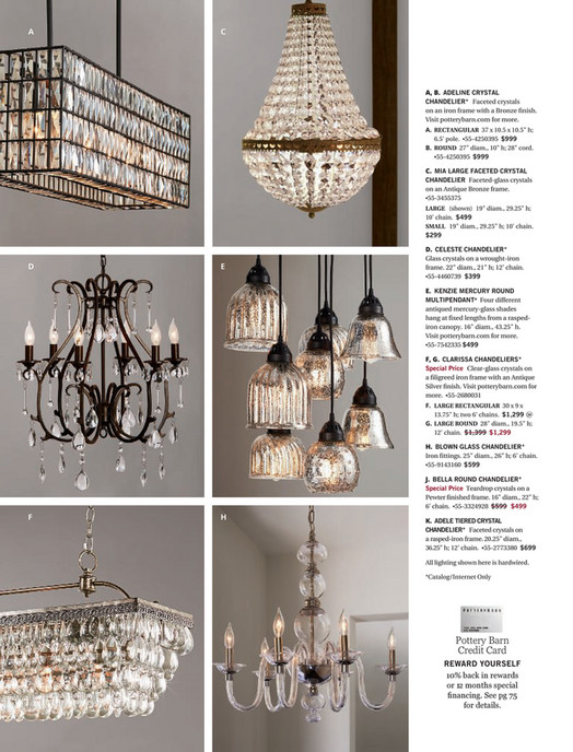 Pottery barn summer 2017 d4 kenzie mercury chandelier a c a b adeline crystal chandelier faceted crystals on an iron frame aloadofball Image collections
