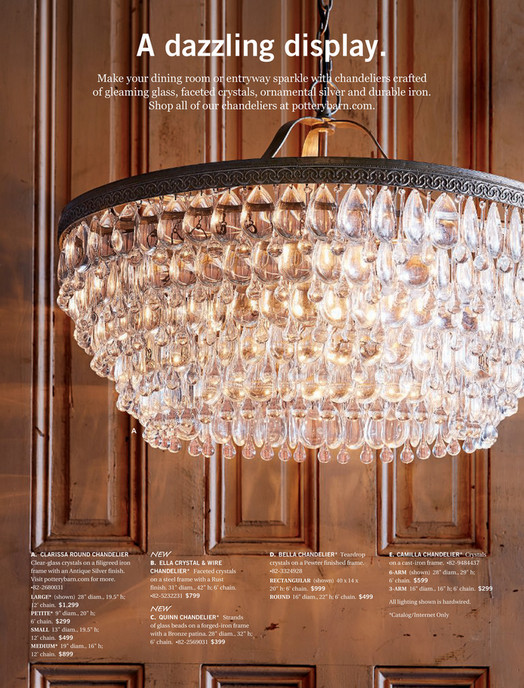 Pottery barn fall 2017 d1 quinn chandelier bronze make your dining room or entryway sparkle with chandeliers crafted of gleaming aloadofball Gallery
