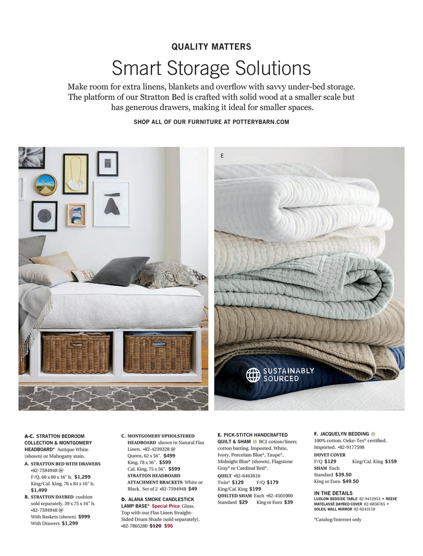 Pottery Barn Fall 2017 D1 Stratton Storage Platform Bed With Drawers King Cal King Pure White