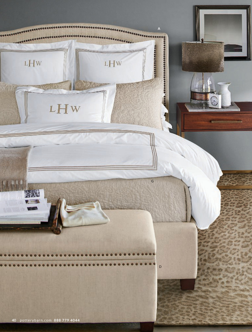 Pottery Barn - Fall Bed & Bath D9 - Tamsen Upholstered Storage