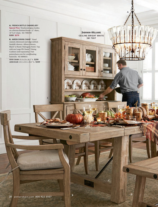 Pottery Barn Fall 2017 D3 Benchwright Dining Bench Rustic