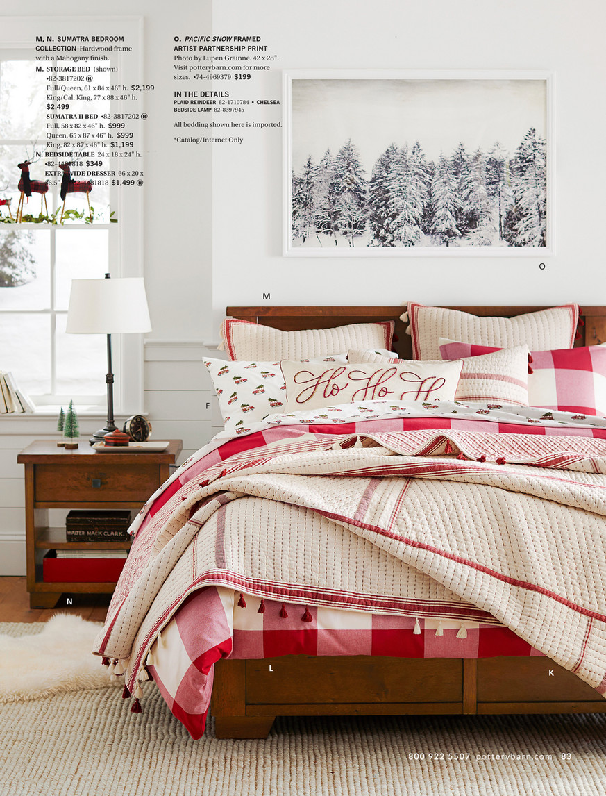 Pottery Barn Holiday 2017 Gift Guide Buffalo Check Duvet Cover Full Queen Red Black