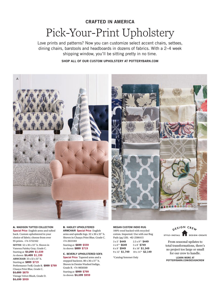 Pottery Barn Spring 2018 D1 Madison Upholstered Settee Polyester Wrapped Cushions Tabana Neutral