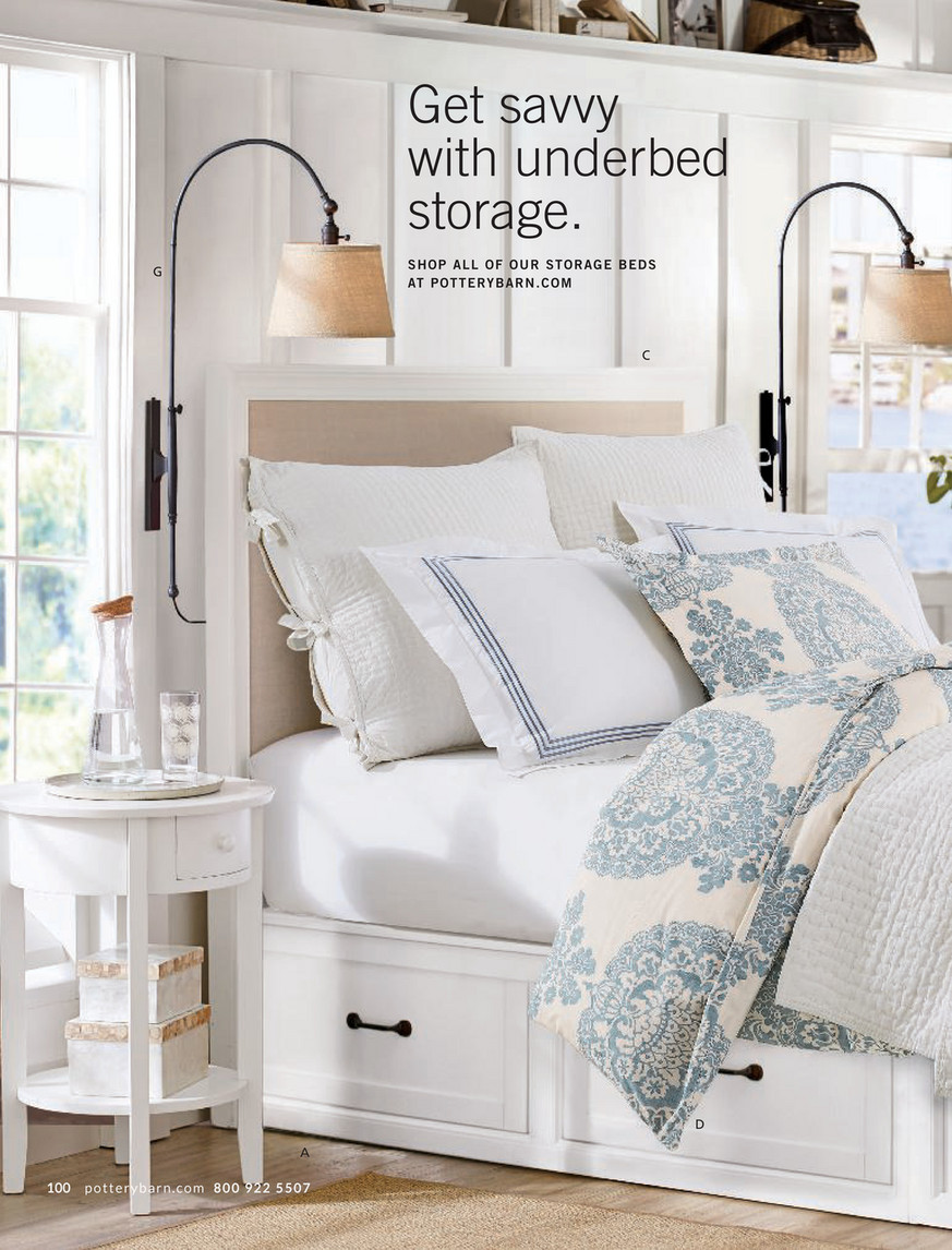 Pottery Barn Winter 2018 D2 Stratton Storage Platform Bed With Drawers King Cal King Pure White