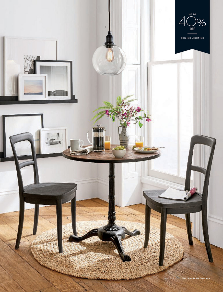 Pottery Barn Fall 2018 D3 Cline Dining Chair Charcoal