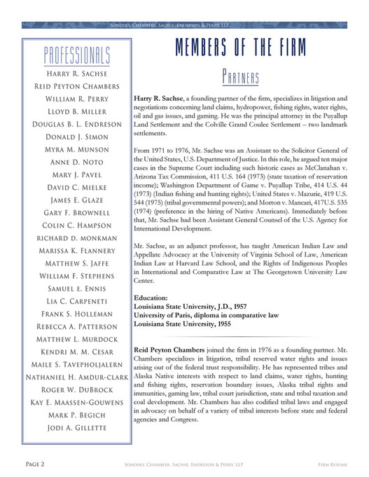 Sonosky Chambers - Firm Resume - Page 4-5 - Created with Publitas.com