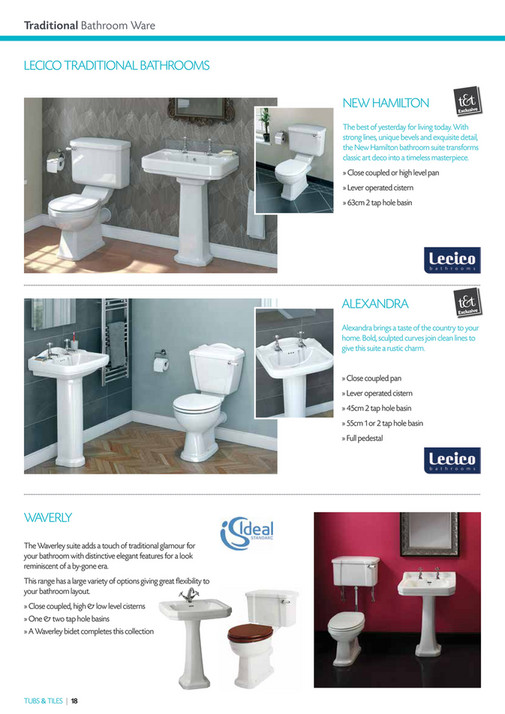 Heat Merchants - Tubs & Tiles Plumbing Brochure 2015 - Page 18-19