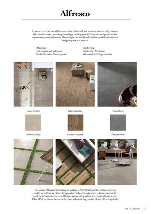1231e7c2e4ae05 16 Tubs   Tiles Indoor and outdoor tiles with the same surface finishes  allow for an attractive continuity between indoors