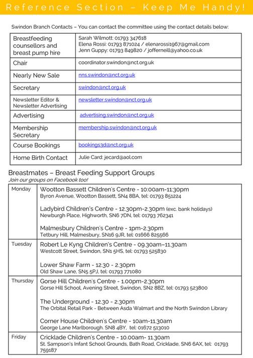 NCT Swindon - Swindon Branch Newsletter October 2016 - Page 6-7