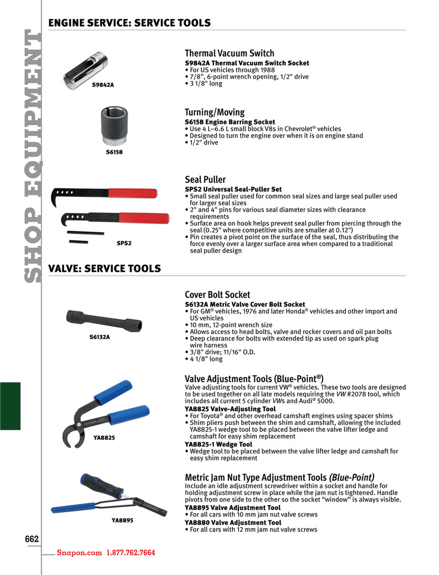 Example - Snap-on Tools - Catalog English CAT1300 - Page 666-667