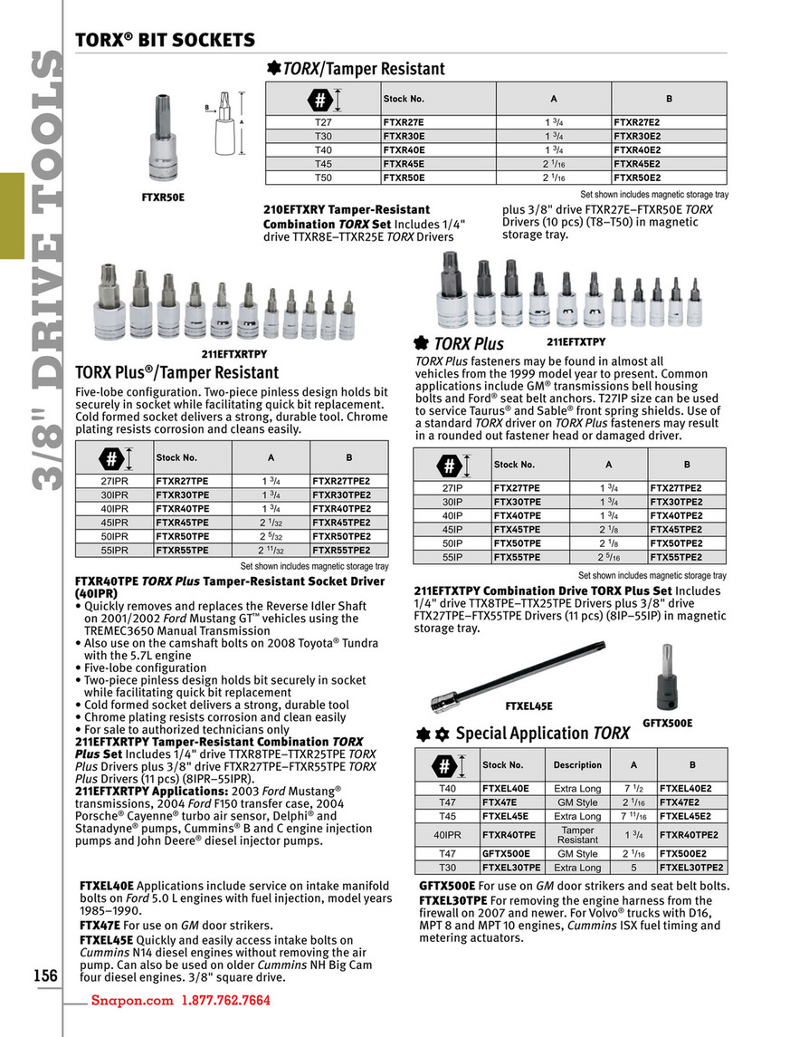 Example - Snap-on Tools - Catalog English CAT1300 - Page 160-161
