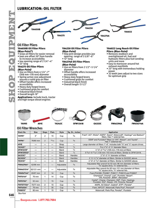 Example - Snap-on Tools - Catalog English CAT1300 - Page 650-651