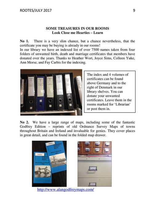 GC Family History Society - GCFHS June Journal 2017 - Page 10-11
