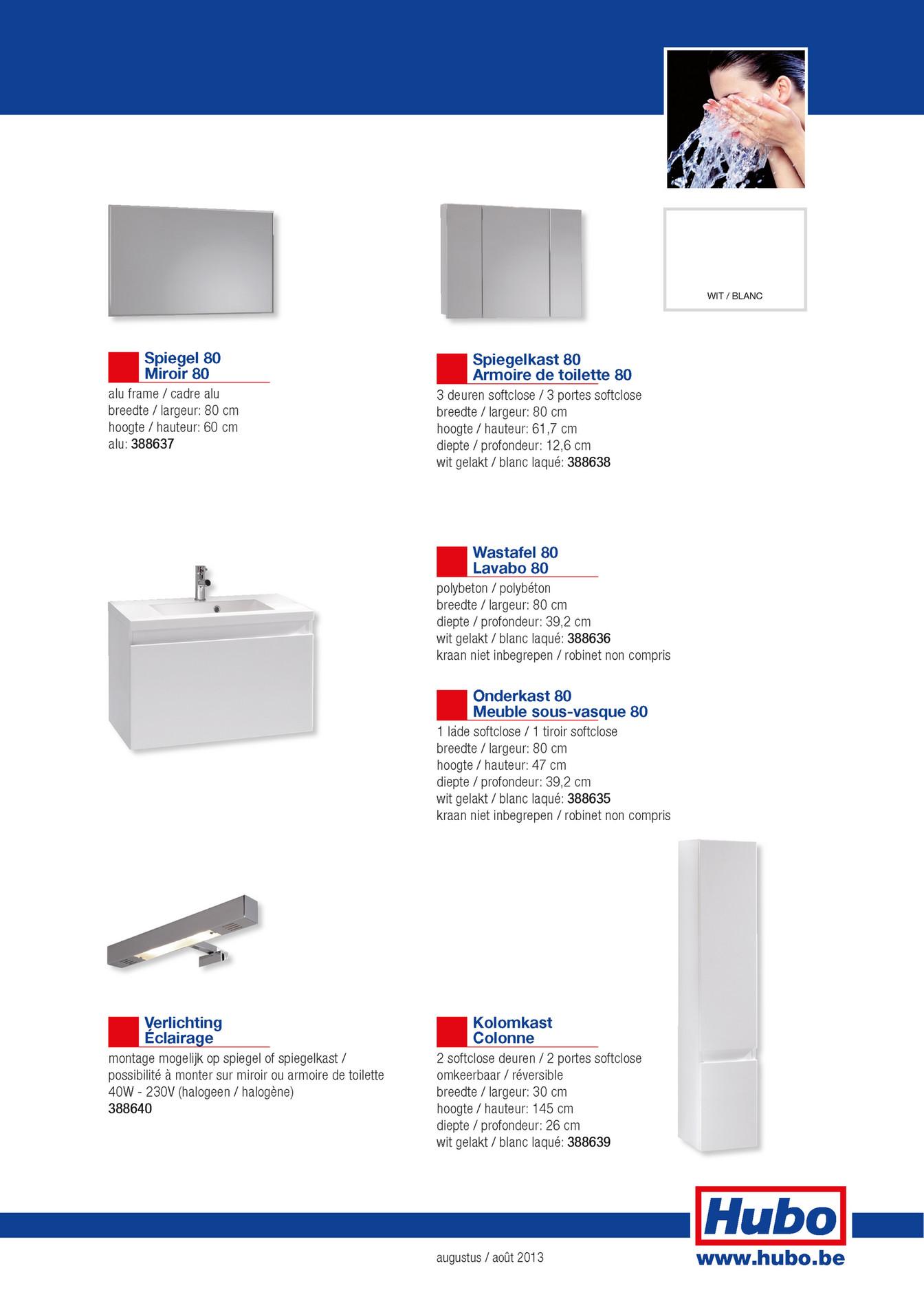 Hauteur Armoire De Toilette hubo catalogue - meuble de salle de bains element - page 2-3