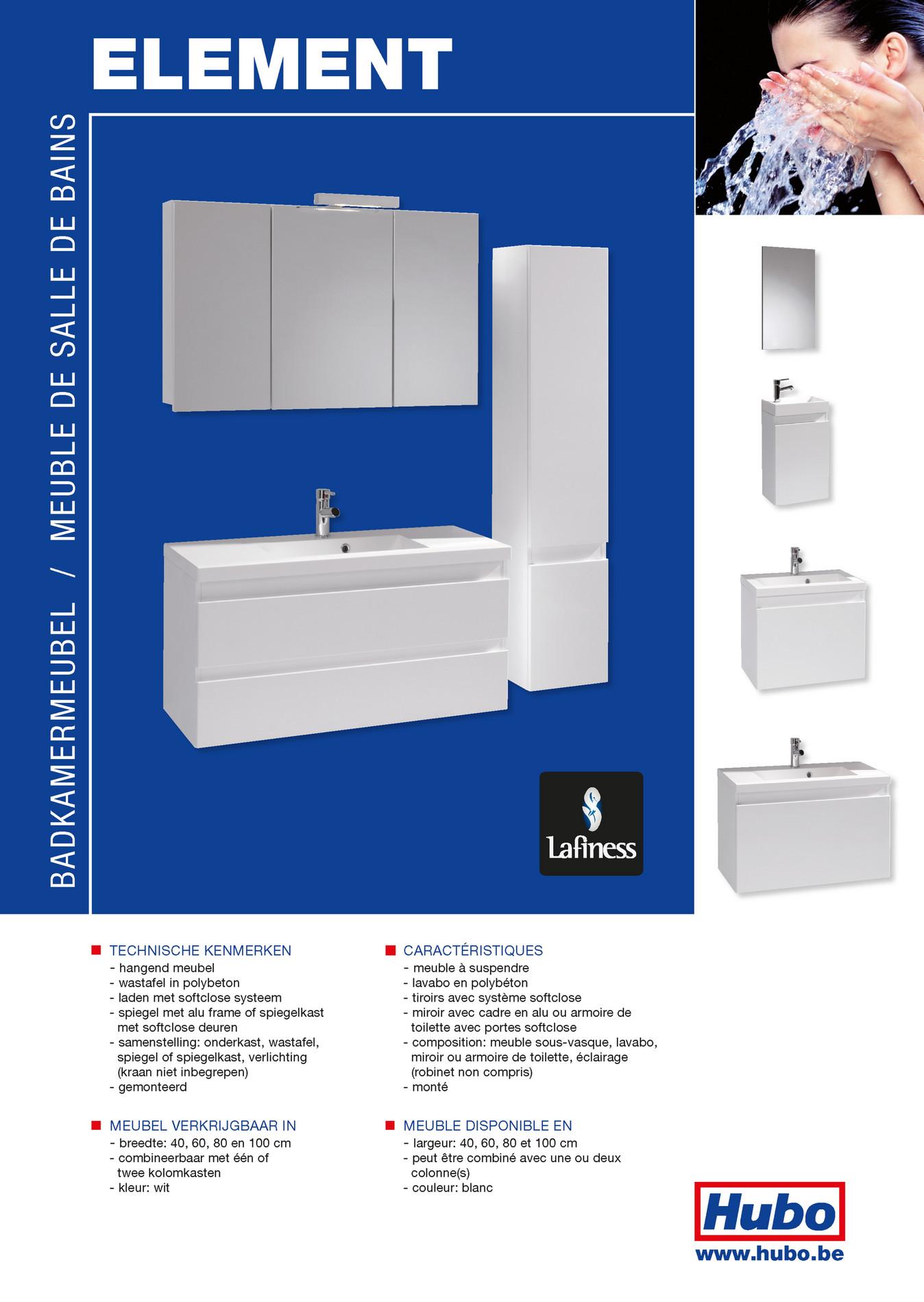 Hubo Catalogue Meuble De Salle De Bains Element Page 1