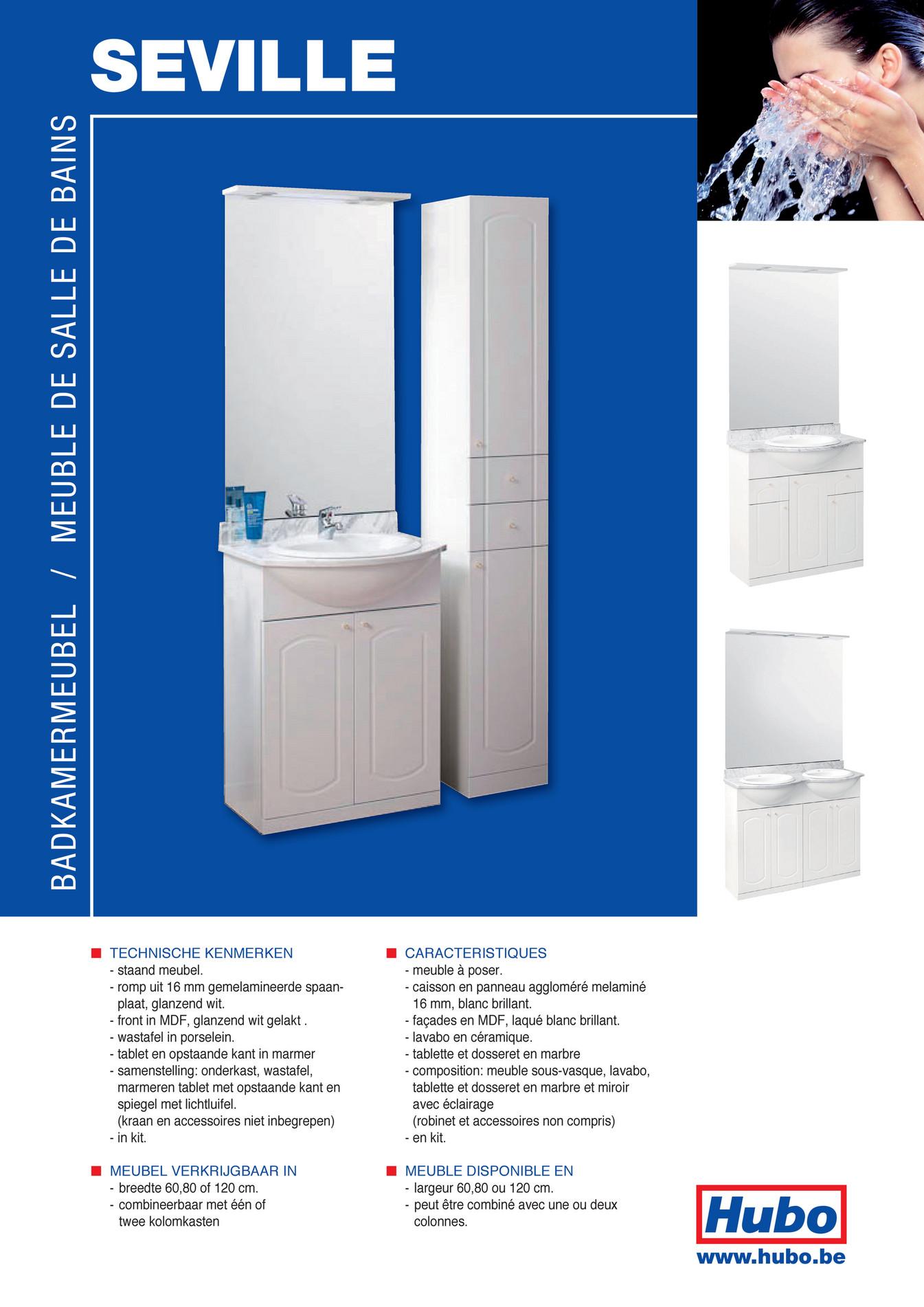 Tablette Salle De Bain 80 Cm hubo catalogue - meuble de salle de bains seville - page 2