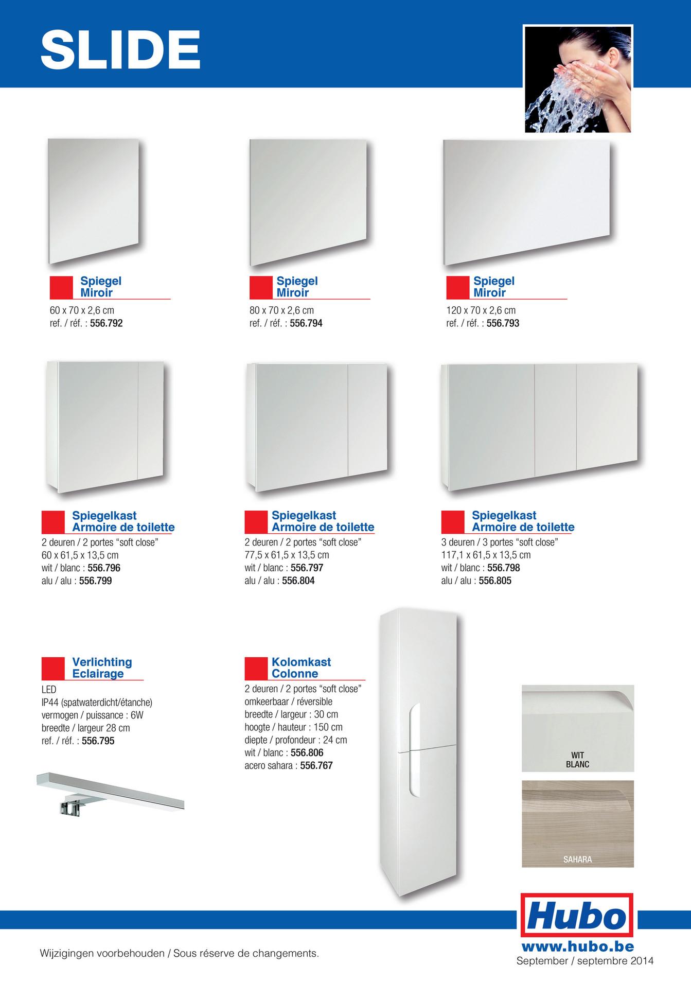 Hauteur Armoire De Toilette hubo catalogue - meuble de salle de bains slide - page 1