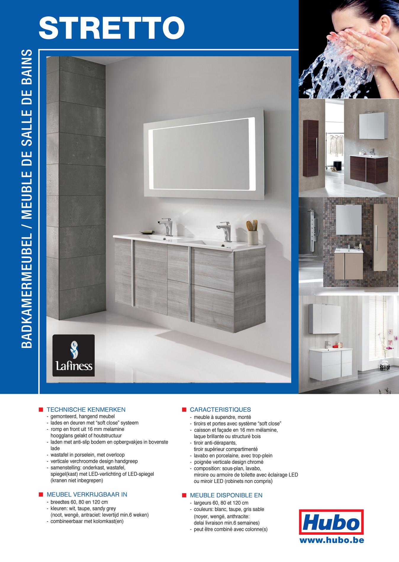 Hubo catalogue meuble de salle de bains stretto page 1 for Catalogue salle de bain pdf