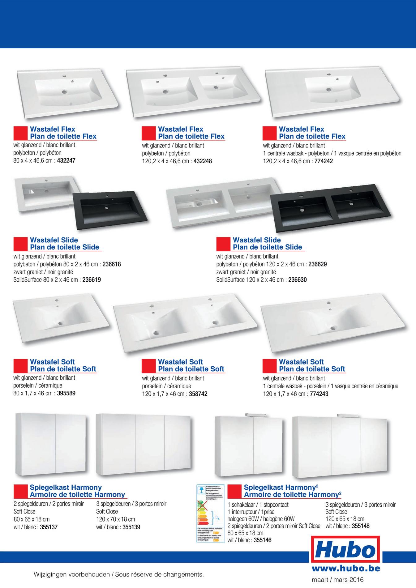 Hubo catalogue meuble de salle de bains alma page 2 3 for Catalogue meuble pdf
