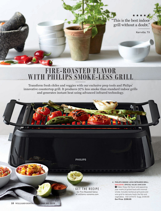 Williams-Sonoma - Summer 2016 Catalog - Philips Smoke-Less Infrared ...