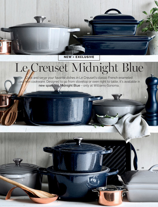 A5 A2 A6 Le Creuset Midnight Blue Cook And Serve Your Favorite Dishes In S