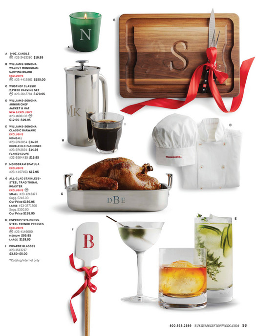 40f53fca444 Williams-Sonoma - 2016 Holiday Business Gifts Catalog - Page 56-57