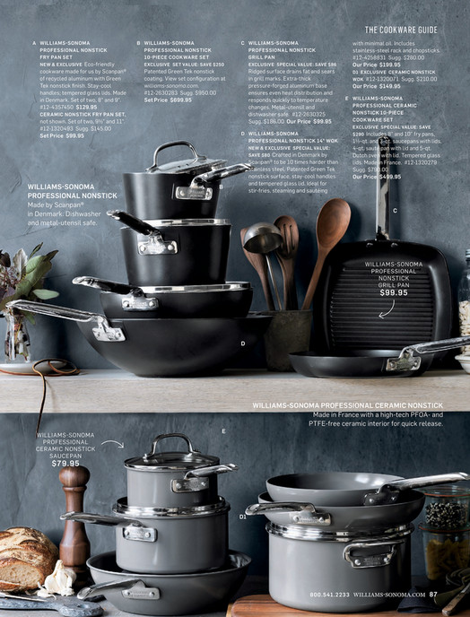 05b085a391 THE COOKWARE GUIDE A WILLIAMS-SONOMA PROFESSIONAL NONSTICK FRY PAN SET  Eco-friendly cookware