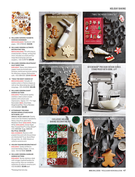 holiday baking williams sonoma ultimate decorating tool twas the night cookie kit a williams