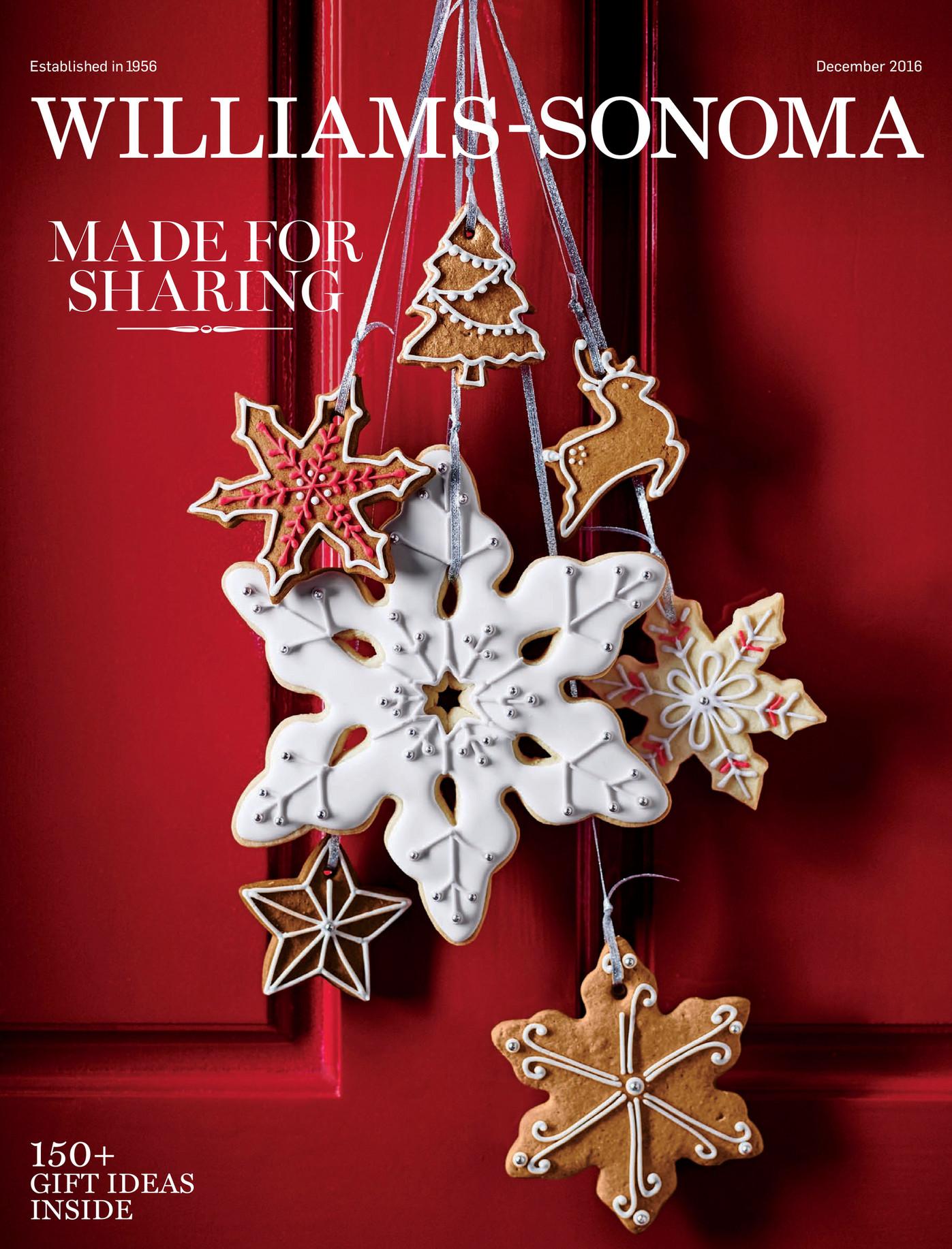 Williams Sonoma Christmas Catalog.Williams Sonoma December 2016 Holiday 4 Catalog Page 40 41