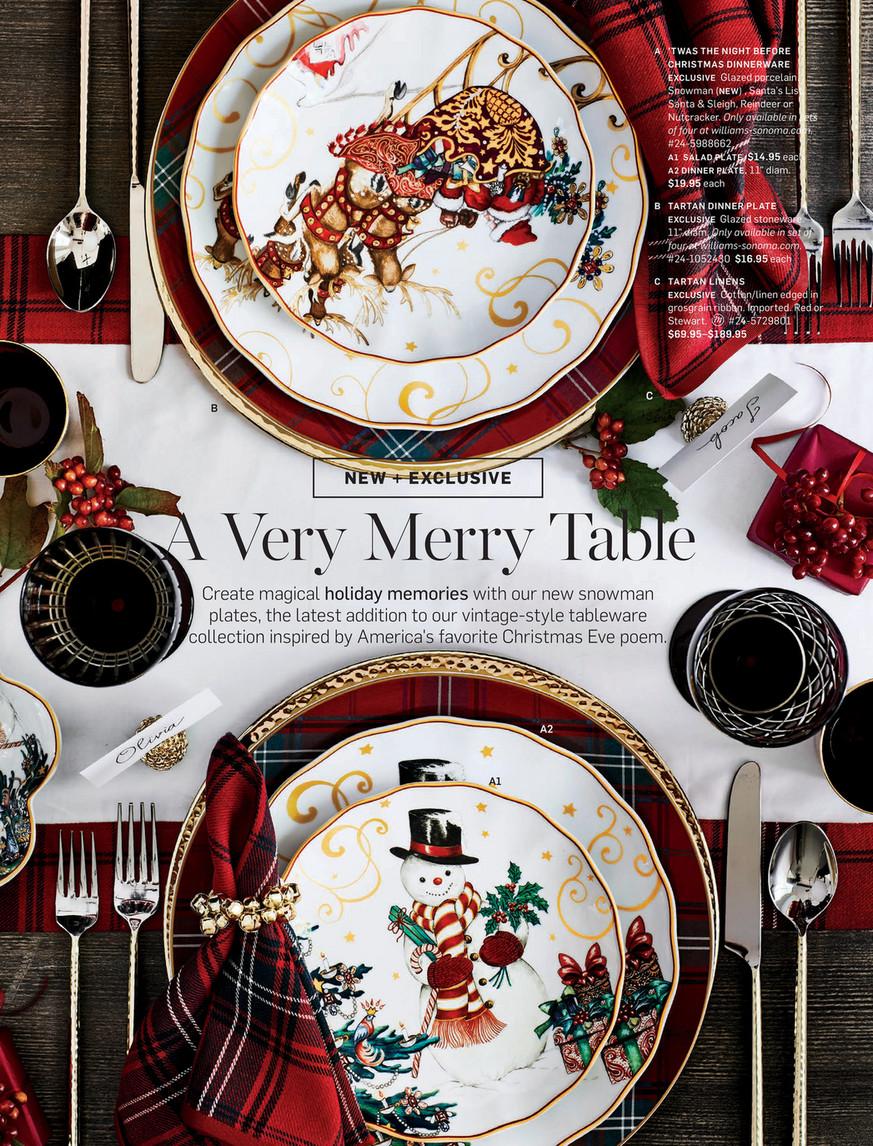 Williams Sonoma Christmas Table.Williams Sonoma Fall 4 Catalog Page 122 123
