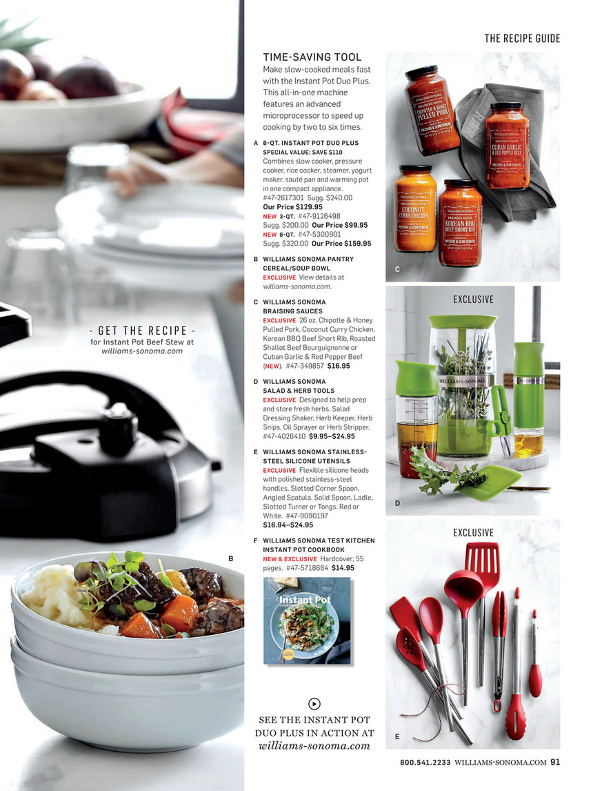 Williams Sonoma Winter 2 2018 Page 90 91