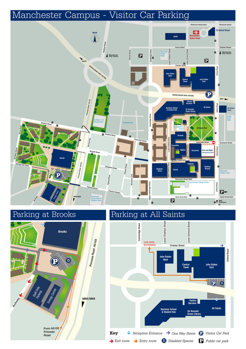 University Of Manchester Campus Map.Manchester Metropolitan University Manchester Met Visitor Car