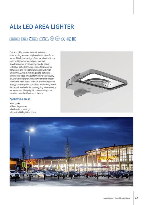 Alix Led Area Lighter Ral9007 Ip66 Ik08 9 Kg Class Ii I The