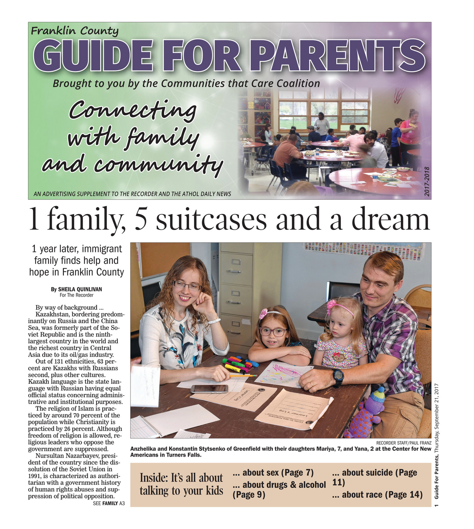 The Recorder - Franklin County Guide for Parents Fall 2017