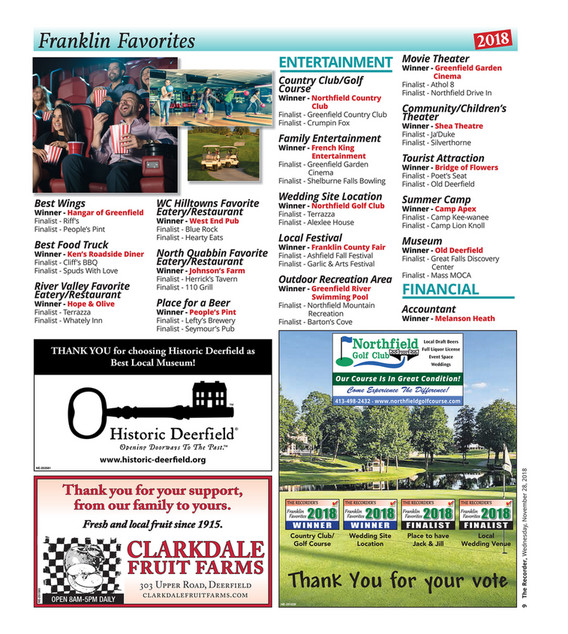 The Recorder - Franklin Faves 2018 - Page 8-9