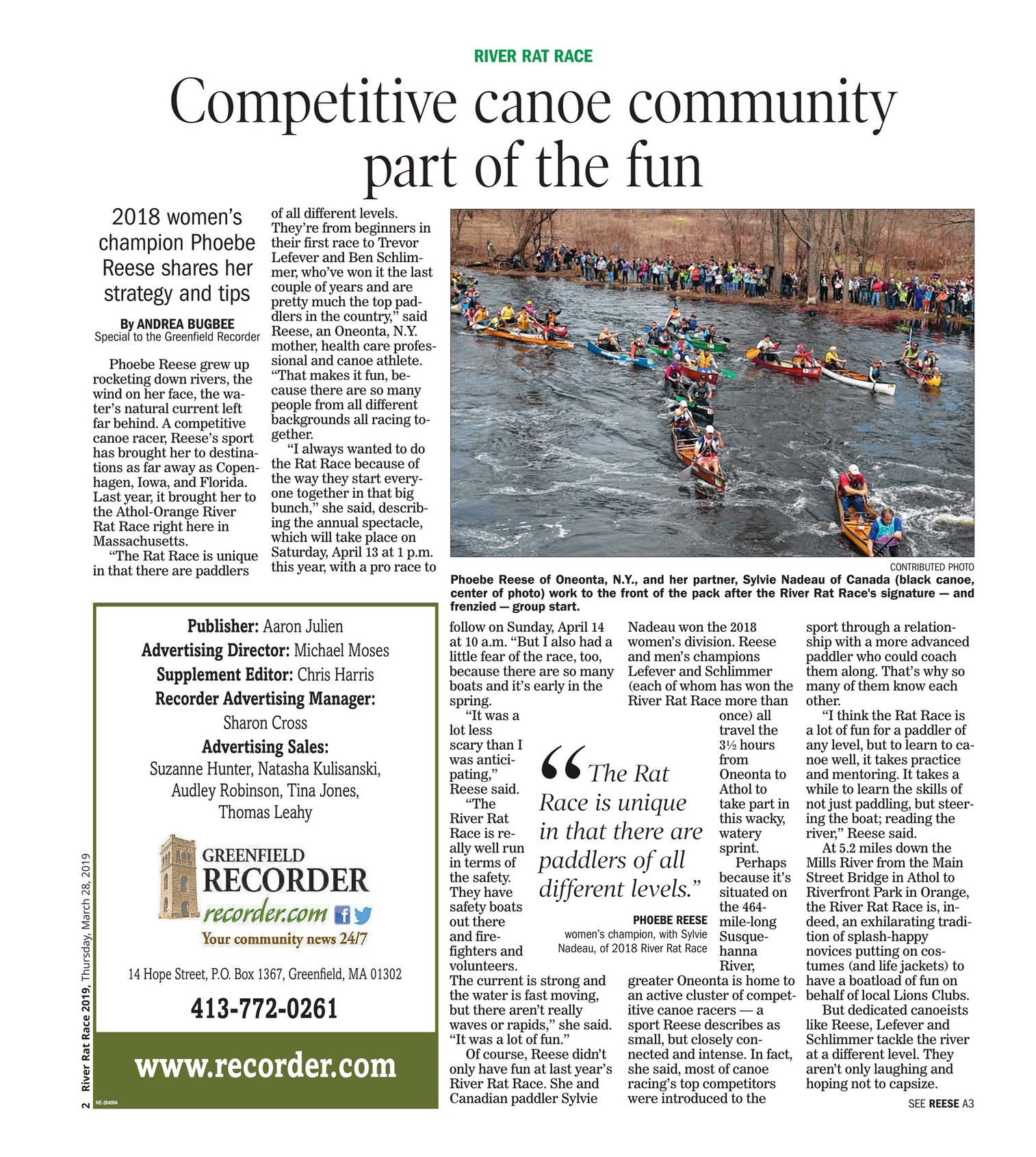 The Recorder - River Rat Race 2019 - Page 1