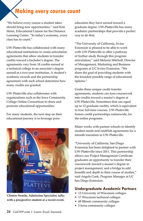 Uw Platteville A Journey 35 Years Of Distance Education Page 24 25