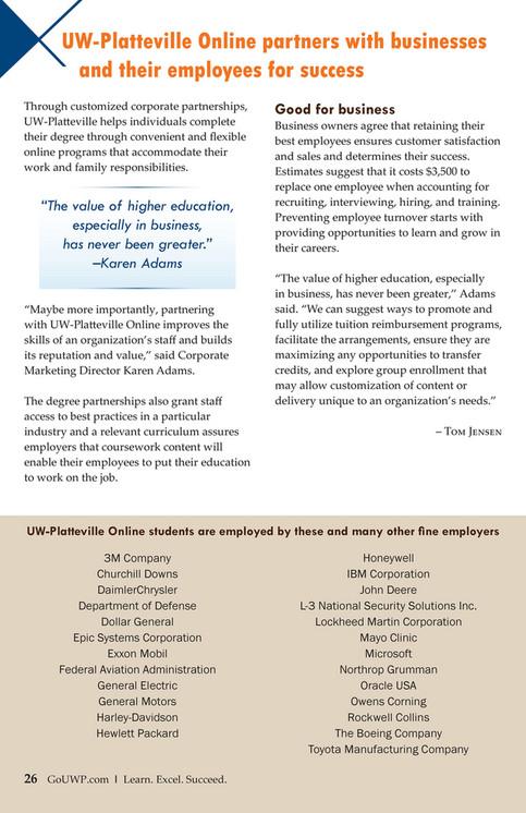 UW-Platteville - A Journey: 35 Years of Distance Education