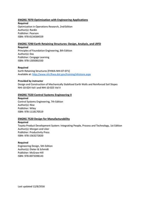 UW-Platteville - Spring 2017 Textbooks - Page 16-17
