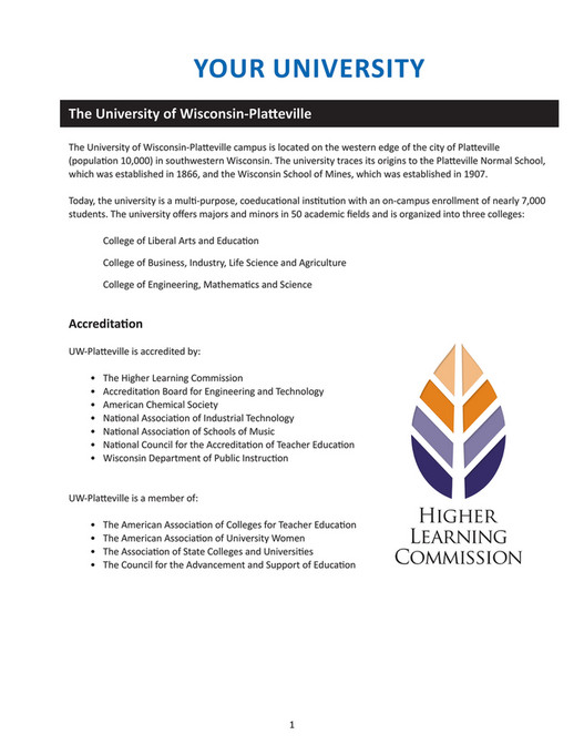 UW-Platteville - Applied Computing Student Handbook - Page 12-13