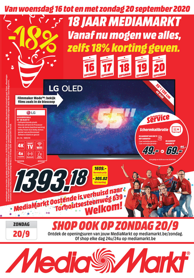 MediaMarkt folder van 16/09/2020 tot 20/09/2020 - Weekpromoties 38 Oostende