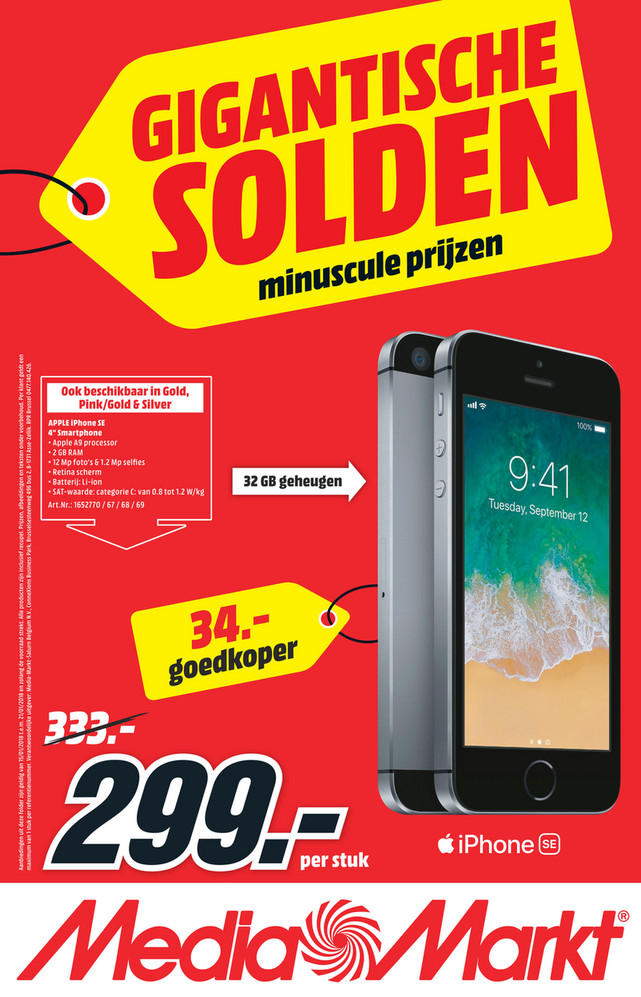 MediaMarkt folder van 12/01/2018 tot 21/01/2018 - Winter solden week 2 2018