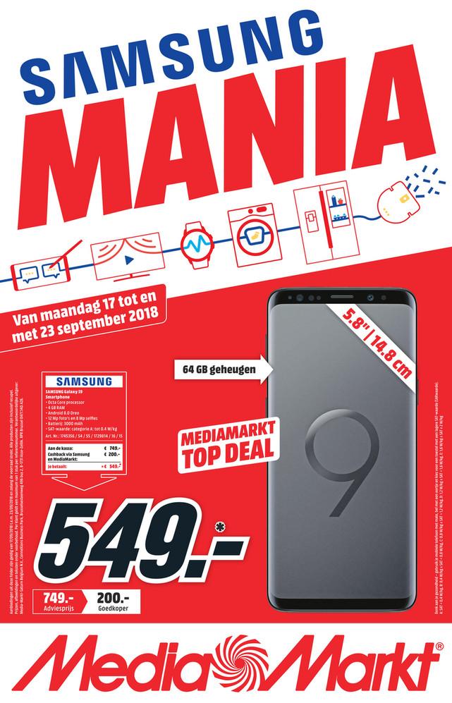 MediaMarkt folder van 15/09/2018 tot 23/09/2018 - Weekpromoties 38
