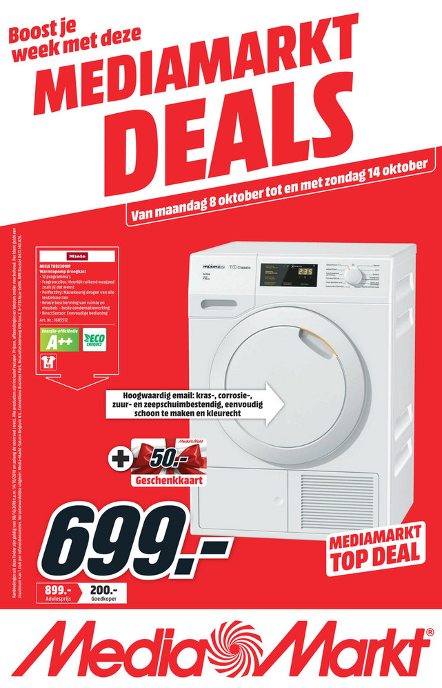 MediaMarkt folder van 08/10/2018 tot 14/10/2018 - Weekpromoties 41