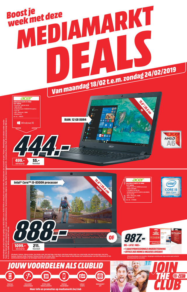 MediaMarkt folder van 18/02/2019 tot 24/02/2019 - Weekpromoties 8