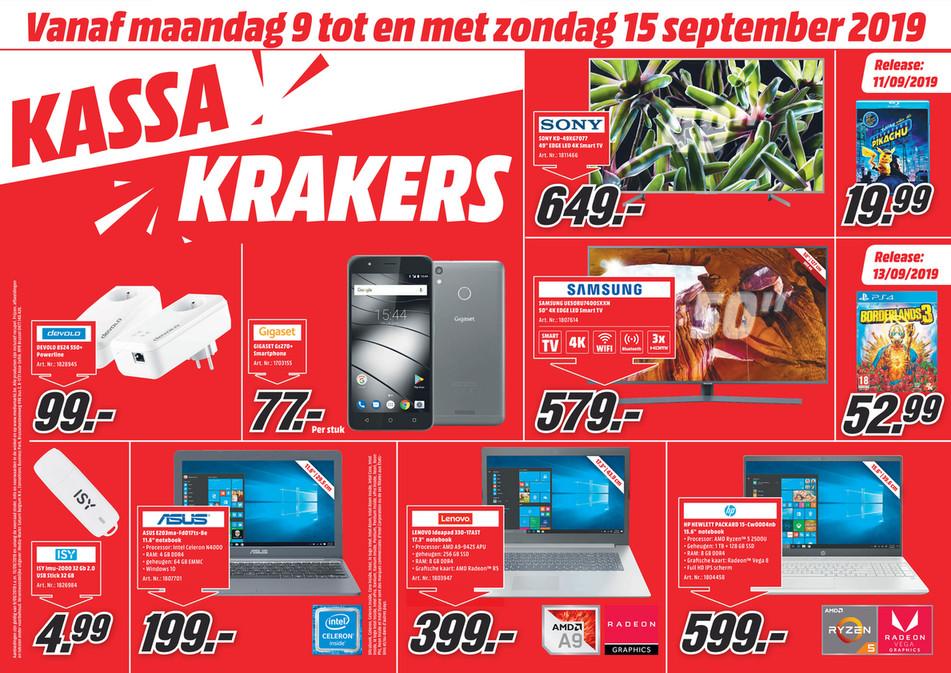 MediaMarkt folder van 09/09/2019 tot 15/09/2019 - Weekpromoties 37