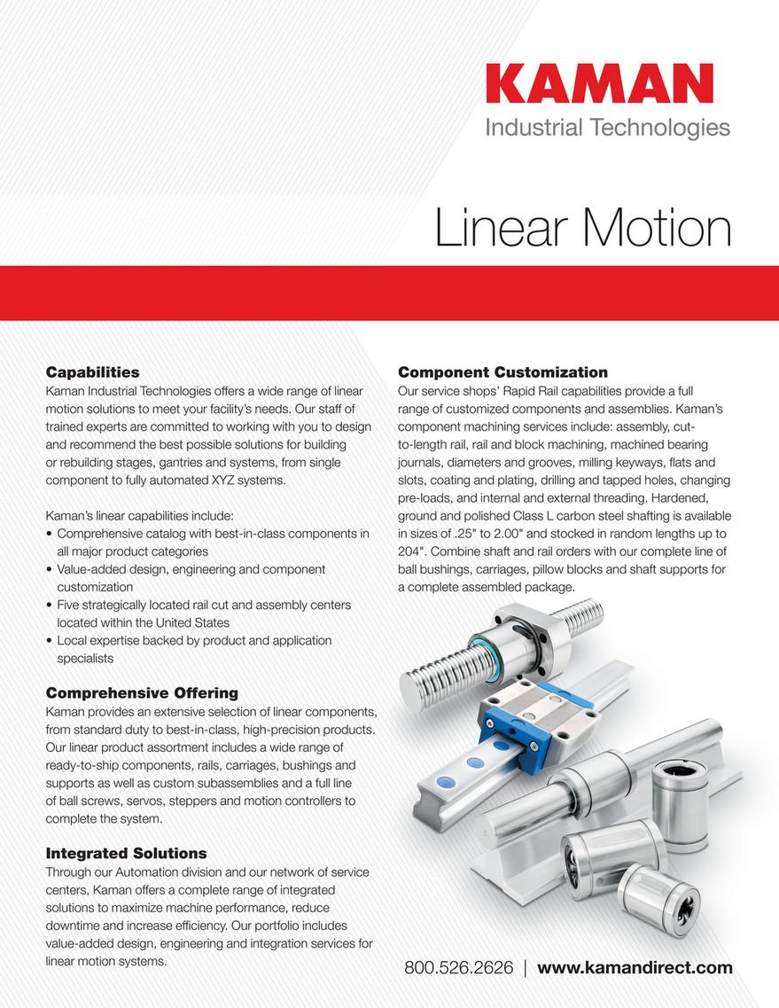 Kaman Distribution - Linear Motion Line Card - Page 1